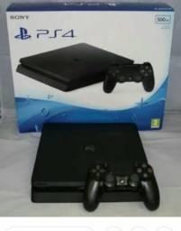 Playstation 4 slim 500 GB com jogo e garantia