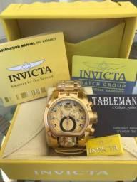 Promoção Relogio Invicta Zeus Magnum Gold