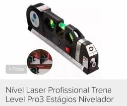 Nível laser profissional com trena 3 estágio