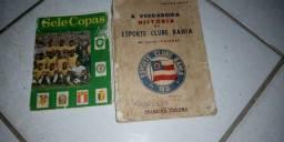 Livros antigos do Bahia e seleção brasileira