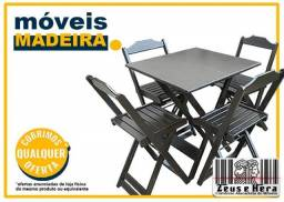 Conjunto Mesa para Bar 60x60 ou 70x70 em Madeira Maciça - Temos Preço p / Revenda