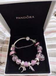 Bracelete Pandora rígido tamanho 18cm em prata 925