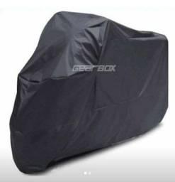 Capa para moto totalmente revestida de couro, resistente à água!