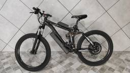 Bicicleta elétrica 500w bateria de lítio