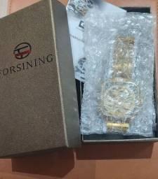 Relógio Forsining Dourado Original