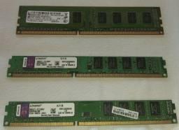 Memórias Desktop DDR3 1333 e 1600 4 GB