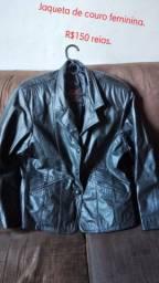 Jaqueta de couro feminina semi nova