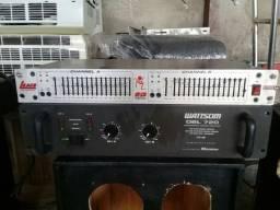 Amplificador e equalizador de 16 bandas só sai os 2 juntos