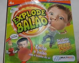 Brinquedo explode balão usado
