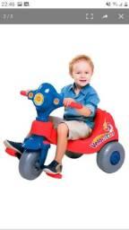 Motoca Infantil Pedal e Passeio com Aro - Vermelho/Azul<br>