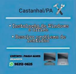 Reparo de lentidão, Instalação de Windows e Office