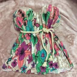Blusa tomara q caia floral
