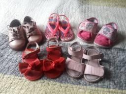 Lote de sapatos infantil menina