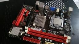 Placa mãe LGA 775+ Processador core 2 quad Q8400