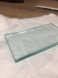 Placa de vidro media