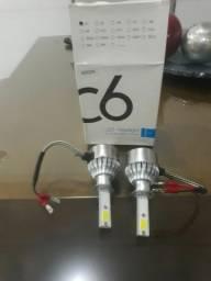 Par de lampada h7 e par de h1 super led