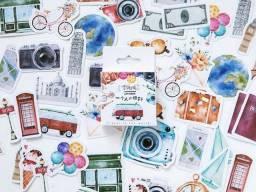 46 Adesivo de Viagem p/ album, planner, scrapbook