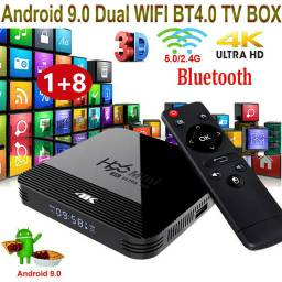Xweurotf.Android Tv Box 9.0 H96 Mini Rk3228A 2.4g / 5g 4k Dual Wifi Media Player 1gb + 8gb