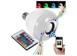 Lampada LED Musical Caixa De Som Bluetooth RGB Com Controle