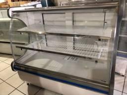 Balcão Refrigerado 1.25mts vidro curvo