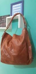 Bolsa de Couro Via Mia Original Caramelo