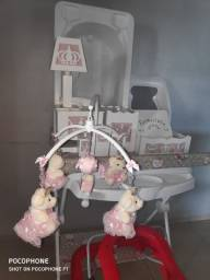 Usados - banheiro trocador galzerano / kit farmacinha 7 peças /  disquinho andador