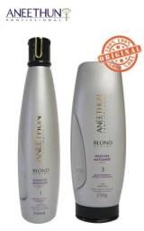 Kit Aneethun Blond System Shampoo Matizante + Máscara Matizante