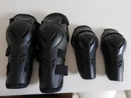 Vendo kit joelheira e cotoveleira