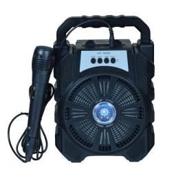 Caixa de Som Bluetooth C/Microfone Portátil  HF-666