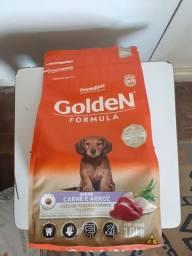 Vendo Ração Golden Carne e Arroz filhote Porte Pequeno 1 kg
