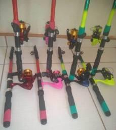 Kit Pesca 1 Vara e 1 Molinete com Linha