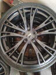 Rodas aro 22 pneus mais de meia vida, medidas da furacão 5 /114