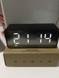 Despertador Digital Caixa de Som Bluetooth