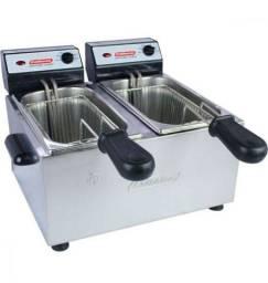 Fritadeira elétrica Profissional 2 Cubas Inox Cotherm - Produto Novo na Caixa
