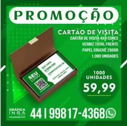 Cartão de visita R$ 59,90