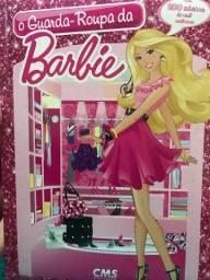 Livro o guarda roupa da Barbie com adesivos de vinil reutilizáveis