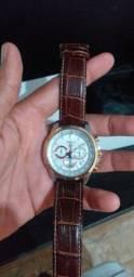 Relógio SeiKo pulseira de couro
