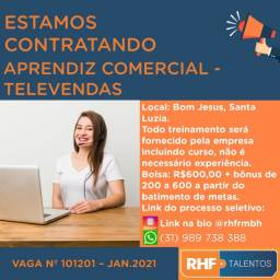 Aprendiz Comercial - Televendas