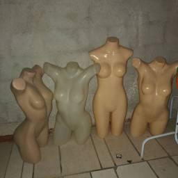 4 manequins meio corpo