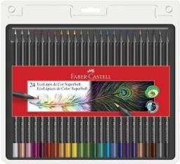 Lápis De Cor Faber Castell Ecolápis Supersoft 24 Cores