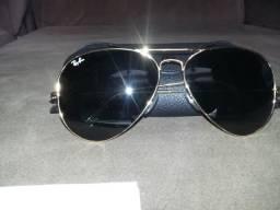 Óculos Ray Ban Aviator Classic. Lentes verdes e pouquíssimo uso.R  350, af0af86696