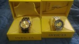 600 reais cada um.Vende-se 02 relógio invicta original super novos, com cartão de garantia