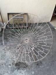 3 antigas cadeira de ferro década de 70