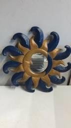 Quadro Sol e Lua com Espelho Lindo
