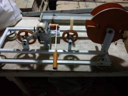 Máquina de medir e enrolar cabos e fios
