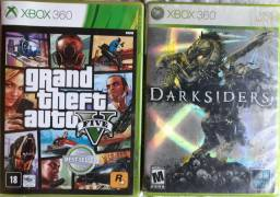 Gta 5 e darksiders x-box 360