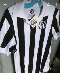 8da9c2f58b Camisa retrô futebol Santos centenário