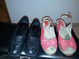 Sapatos boneca couro e pelica