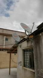Apontamento de antena via satélite