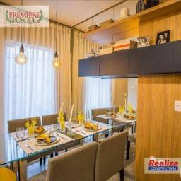 Excelentes apartamentos com 2 dormitórios à venda, 47,71m² (tipo) / 57,25m² (gardem) a par